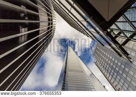 Abstract Of The Shard Building In London, England Uk
