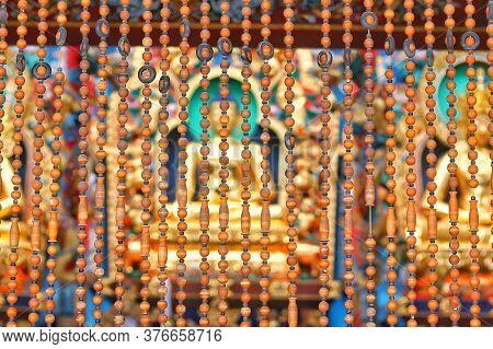 Sree Budha Statue In Golden Temple Coorg, Karanataka,india