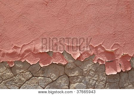 Friable Peeling Pink Paint