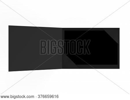 Blank  Plastic Card Mockup Inside Paper Booklet Holder, Customer Loyal Booklet Envelope. 3d Renderin