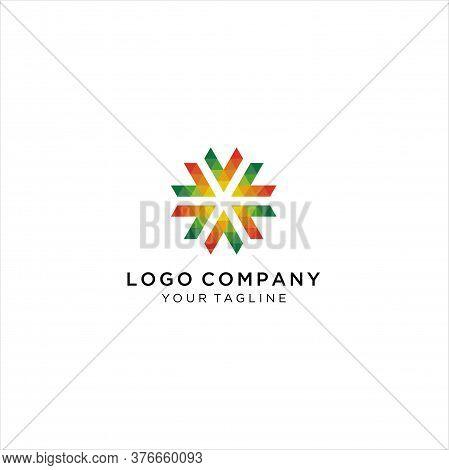 Circular Letter V, Inspirational Design Logo, Colorful Circular Letter V Logo
