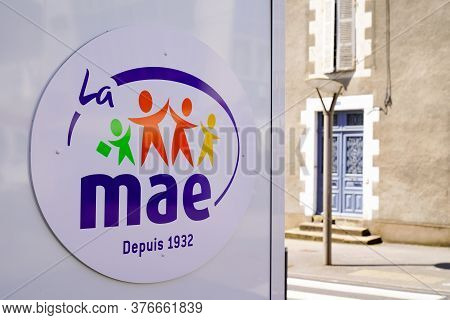 Bordeaux , Aquitaine / France - 07 07 2020 : Mae Logo Sign Office Of French Insurance For Teacher In