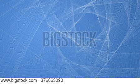 Abstract Geometric Gradient Background With Interwoven Lines And Triangles. Design Layout For Video