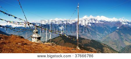 panoramatic view from Langtang to Ganesh Hima