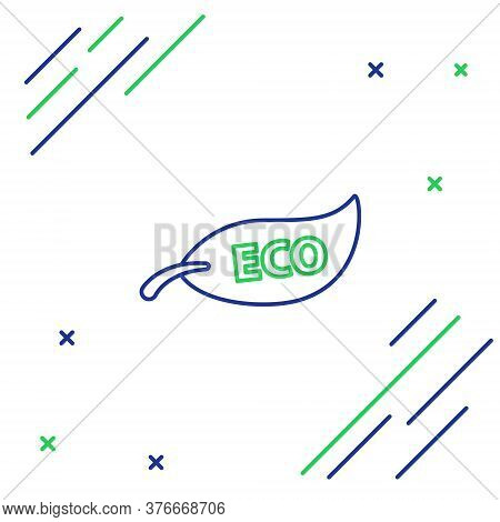 Line Leaf Eco Symbol Icon Isolated On White Background. Banner, Label, Tag, Logo, Sticker For Eco Gr