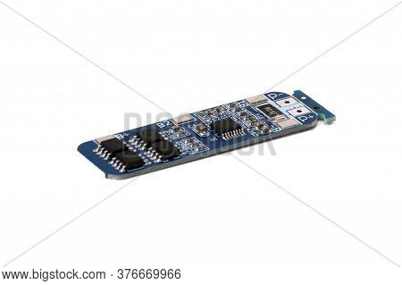 Battery Power Board Isolated On Wite Background