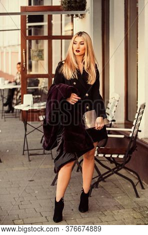 Autumn And Winter Style. Incomparable Warmth. Faux Fur Vs Real Fur. Visual Aesthetics. Luxury And Su