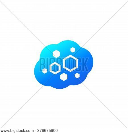 Nano Substance, Vector Icon On White, Eps 10 File, Easy To Edit