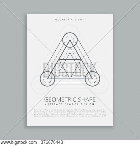 Abstract Spiritual Symbol Abstract Gray Vector Design Illustration