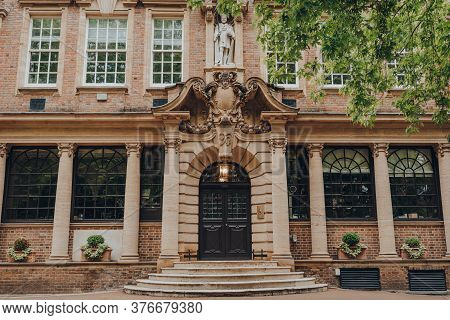 London, Uk - July 02, 2020: Facade And Entrance Of University College School, An Independent Day Sch