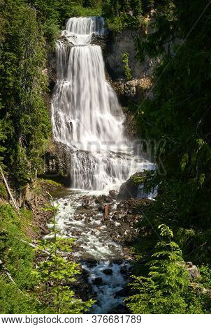 Alexander Falls British Columbia. Spectacular Alexander Falls In Whistler, British Columbia, Canada.