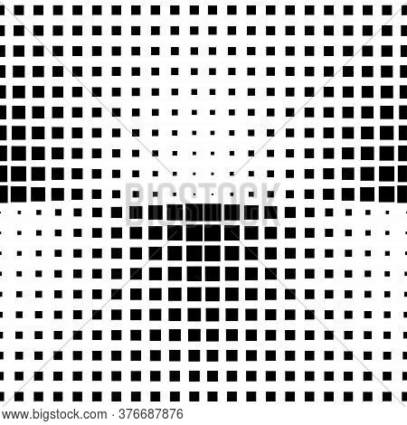 Seamless Abstract Black And White Square Grid Pattern. Vector Texture. Decorative Monochrome Repeati