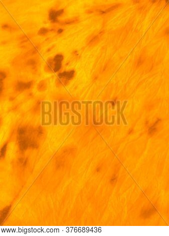 Magic Summer Tie Dye Print. Mottled Pattern. Hippy Cloth. Autumn Colors Smears On Canvas. Omber, Ora