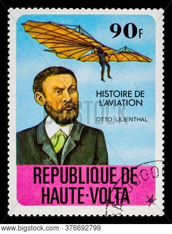Burkina Faso - Circa 1978: A Postage Stamp From Republique De Haute-volta Showing Otto Lilienthal
