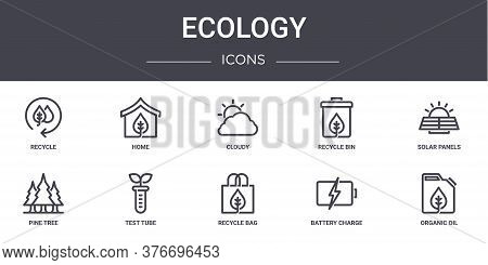 Ecology Concept Line Icons Set. Contains Icons Usable For Web, Logo, Ui Ux Such As Home, Recycle Bin