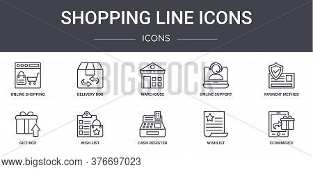 Shopping Line Icons Concept Line Icons Set. Contains Icons Usable For Web, Logo, Ui Ux Such As Deliv