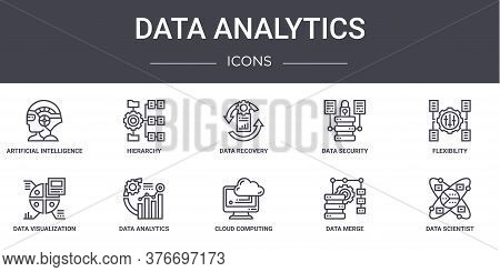 Data Analytics Concept Line Icons Set. Contains Icons Usable For Web, Logo, Ui Ux Such As Hierarchy,