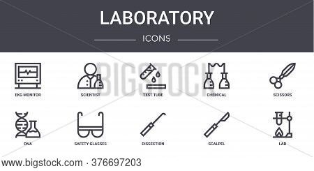 Laboratory Concept Line Icons Set. Contains Icons Usable For Web, Logo, Ui Ux Such As Scientist, Che
