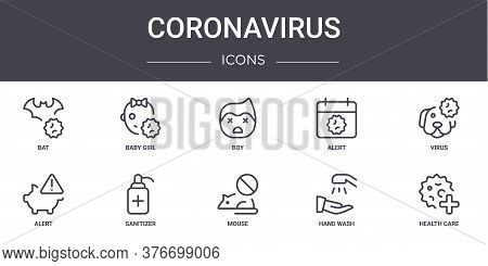Coronavirus Concept Line Icons Set. Contains Icons Usable For Web, Logo, Ui Ux Such As Baby Girl, Al