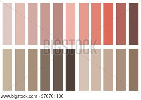 The Color Palette Of Roses. Texture With A Gradient. Vector Pattern Of Pink Background.