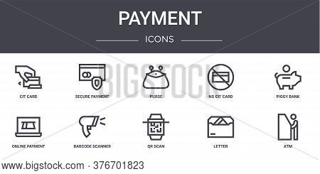 Payment Concept Line Icons Set. Contains Icons Usable For Web, Logo, Ui Ux Such As Secure Payment, N