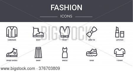 Fashion Concept Line Icons Set. Contains Icons Usable For Web, Logo, Ui Ux Such As Boot, Bow Tie, Sp