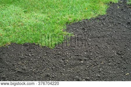 Green Lawn And Dirt For New Lawn
