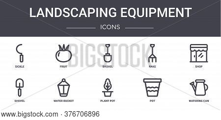 Landscaping Equipment Concept Line Icons Set. Contains Icons Usable For Web, Logo, Ui Ux Such As Fru