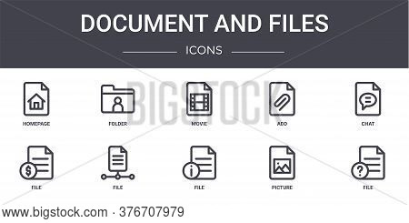 Document And Files Concept Line Icons Set. Contains Icons Usable For Web, Logo, Ui Ux Such As Folder