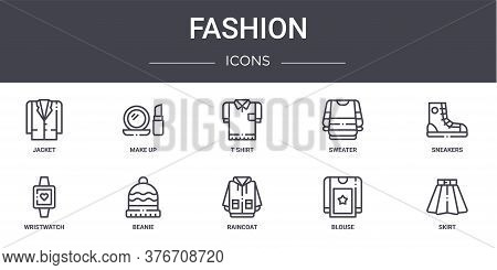 Fashion Concept Line Icons Set. Contains Icons Usable For Web, Logo, Ui Ux Such As Make Up, Sweater,