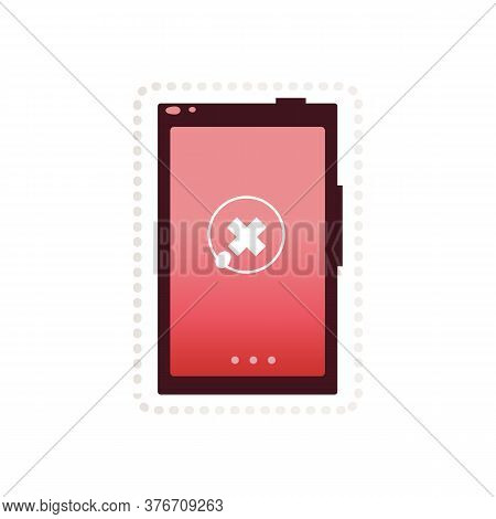 Tablet Mobile Device Icon Or Sign With Prohibition, Ban And Lock Concept.