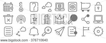 Ui Master Line Icons. Linear Set. Quality Vector Line Set Such As Setting, Add File, Zoom In, More,