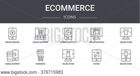 Ecommerce Concept Line Icons Set. Contains Icons Usable For Web, Logo, Ui Ux Such As Online Shopping