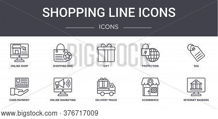 Shopping Line Icons Concept Line Icons Set. Contains Icons Usable For Web, Logo, Ui Ux Such As Shopp