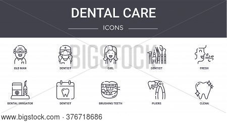 Dental Care Concept Line Icons Set. Contains Icons Usable For Web, Logo, Ui Ux Such As Dentist, Dent