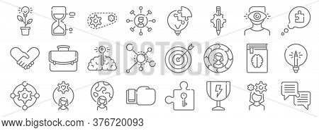 Life Skills Line Icons. Linear Set. Quality Vector Line Set Such As Dialogue, Trophy, Boxing Glove,