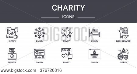 Charity Concept Line Icons Set. Contains Icons Usable For Web, Logo, Ui Ux Such As Charity, Charity,