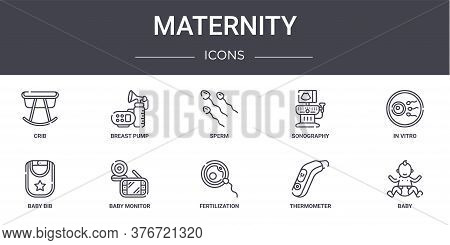 Maternity Concept Line Icons Set. Contains Icons Usable For Web, Logo, Ui Ux Such As Breast Pump, So