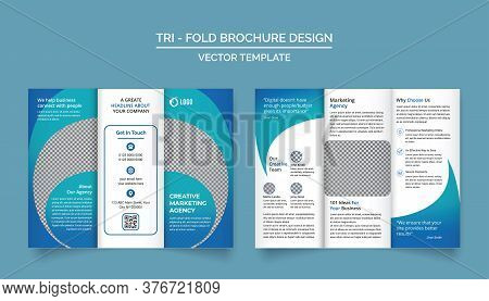 Tri Fold Brochure Design Template For Your Company, Corporate, Business, Advertising, Marketing, Age