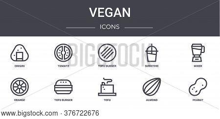 Vegan Concept Line Icons Set. Contains Icons Usable For Web, Logo, Ui Ux Such As Tomato, Smoothie, O