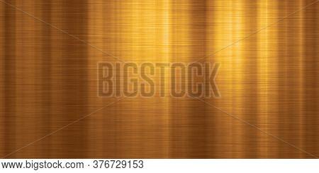 brushed metal copper wide plate banner background illustration