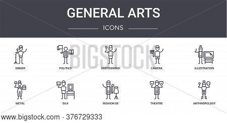 General Arts Concept Line Icons Set. Contains Icons Usable For Web, Logo, Ui Ux Such As Politics, Ca