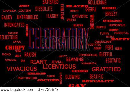 Celebratory Word Which Presented Human Love Relationship With Related Terminology Vector Illustratio