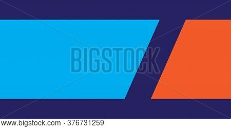 Minimal Blue And Orange Background . Modern Background Design