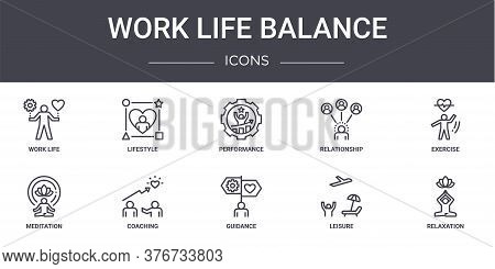Work Life Balance Concept Line Icons Set. Contains Icons Usable For Web, Logo, Ui Ux Such As Lifesty