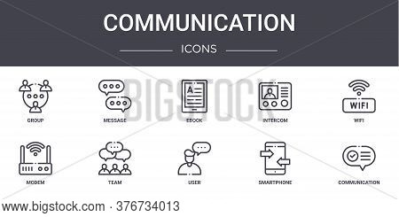 Communication Concept Line Icons Set. Contains Icons Usable For Web, Logo, Ui Ux Such As Message, In