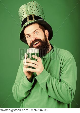 Fest And Holiday Menu. Dyed Green Traditional Beer. Alcohol Beverage. Lets Start Patricks Party. Iri
