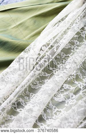 Close Up Of Elegant Apron. Fashion Background.