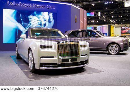 Bangkok Thailand :- July 16,2020 :- Rolls-royce Car Show At At  Exhibition Bangkok International Mor