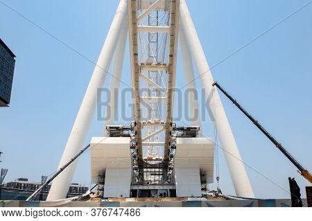 Dubai, United Arab Emirates, 04/07/2020. Construction Site Of Dubai Eye (ain Dubai) - The Largest Fe